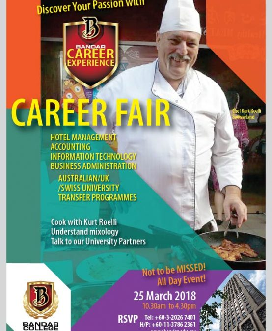 CAREER FAIR!!  25th MARCH